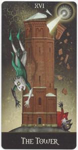 deviant moon tarot tower card
