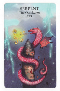 the animal wisdom tarot tower card
